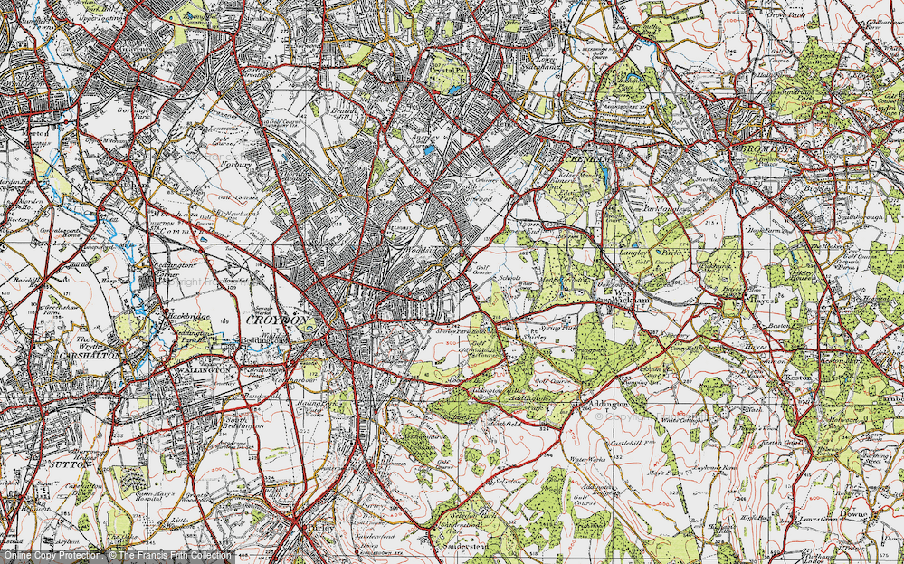 Old Map of Addiscombe, 1920 in 1920