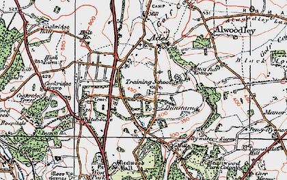 Old map of Adel in 1925