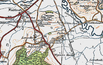 Old map of Wigmore Moor in 1920