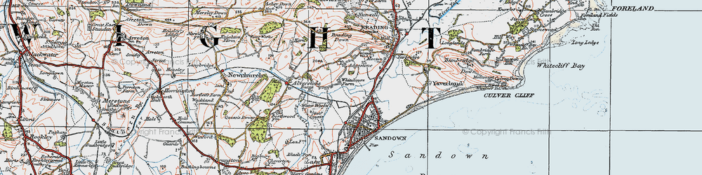 Old map of Adgestone in 1919
