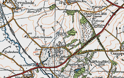 Old map of Adlestrop Park in 1919