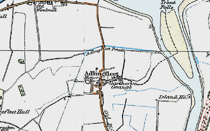 Old map of Adlingfleet Drain in 1924