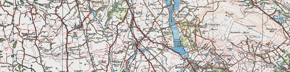 Old map of Adlington in 1924