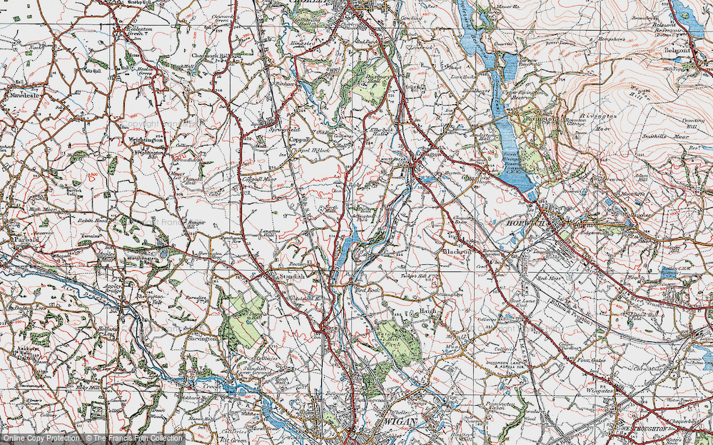 Old Map of Adlington Park, 1924 in 1924