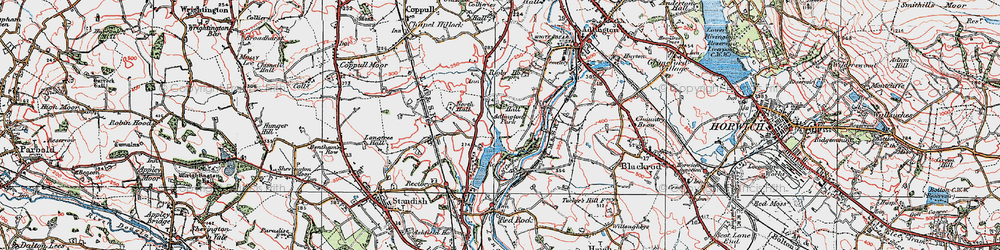 Old map of Adlington Park in 1924