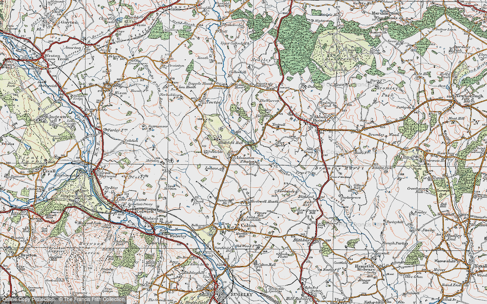 Old Map of Admaston, 1921 in 1921