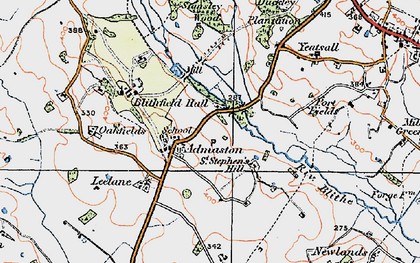 Old map of Yeatsall in 1921