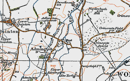 Old map of Admington in 1919
