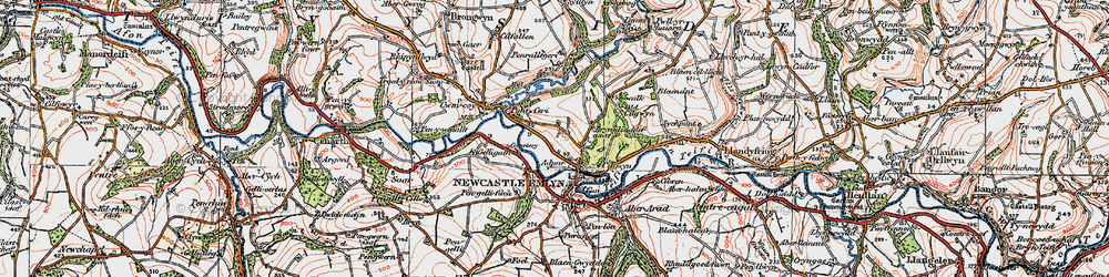 Old map of Adpar in 1923