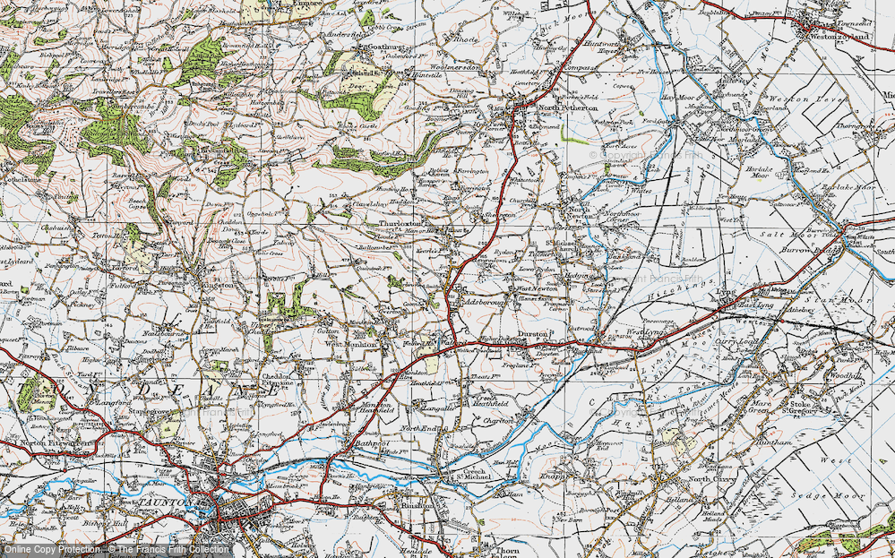 Old Map of Adsborough, 1919 in 1919