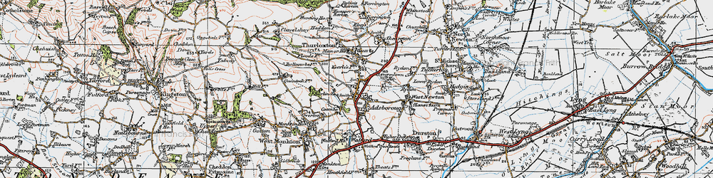 Old map of Adsborough in 1919