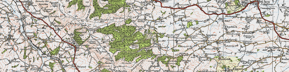 Old map of Adscombe in 1919