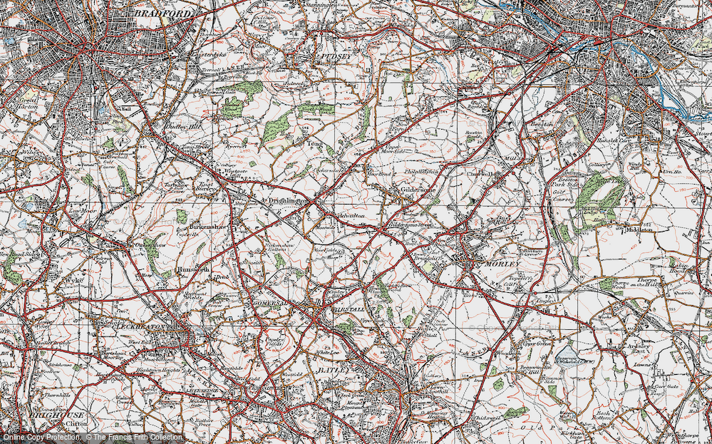 Old Map of Adwalton, 1925 in 1925