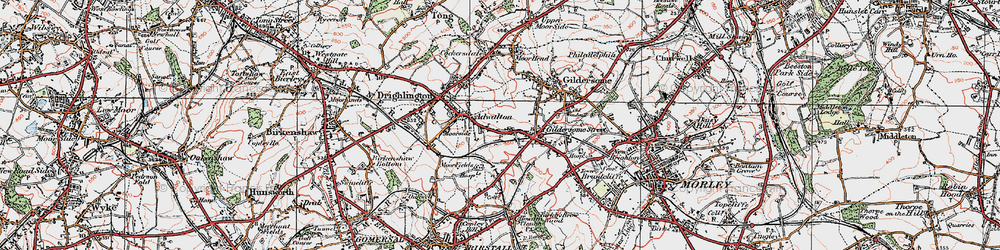 Old map of Adwalton in 1925