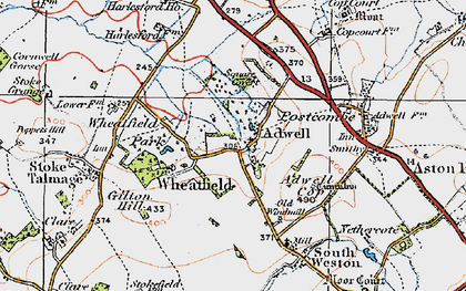 Old map of Adwell in 1919