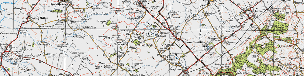 Old map of Wheatfield in 1919