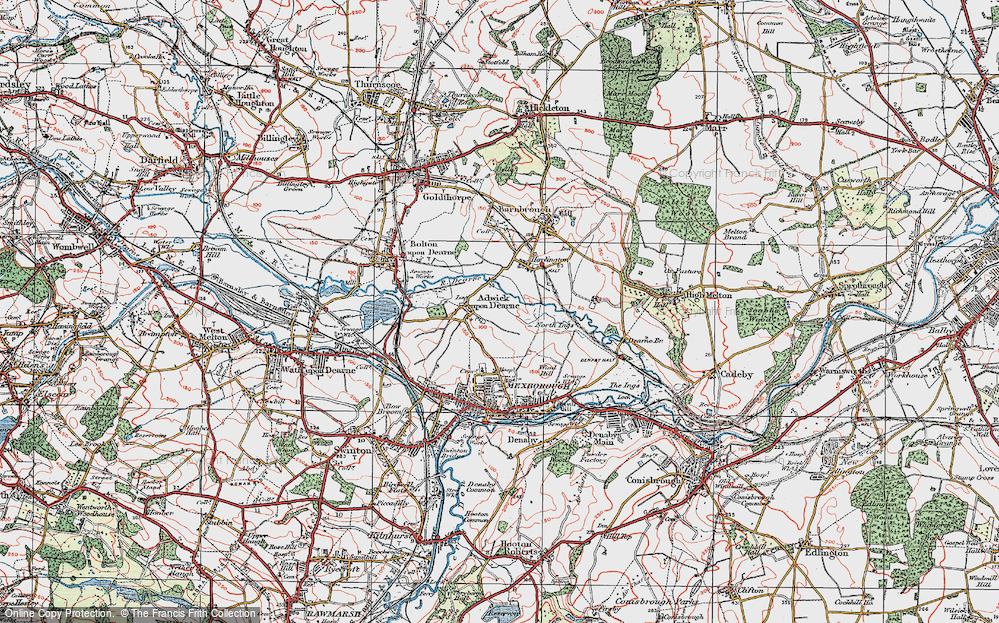 Old Map of Adwick upon Dearne, 1924 in 1924