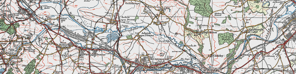 Old map of Adwick upon Dearne in 1924
