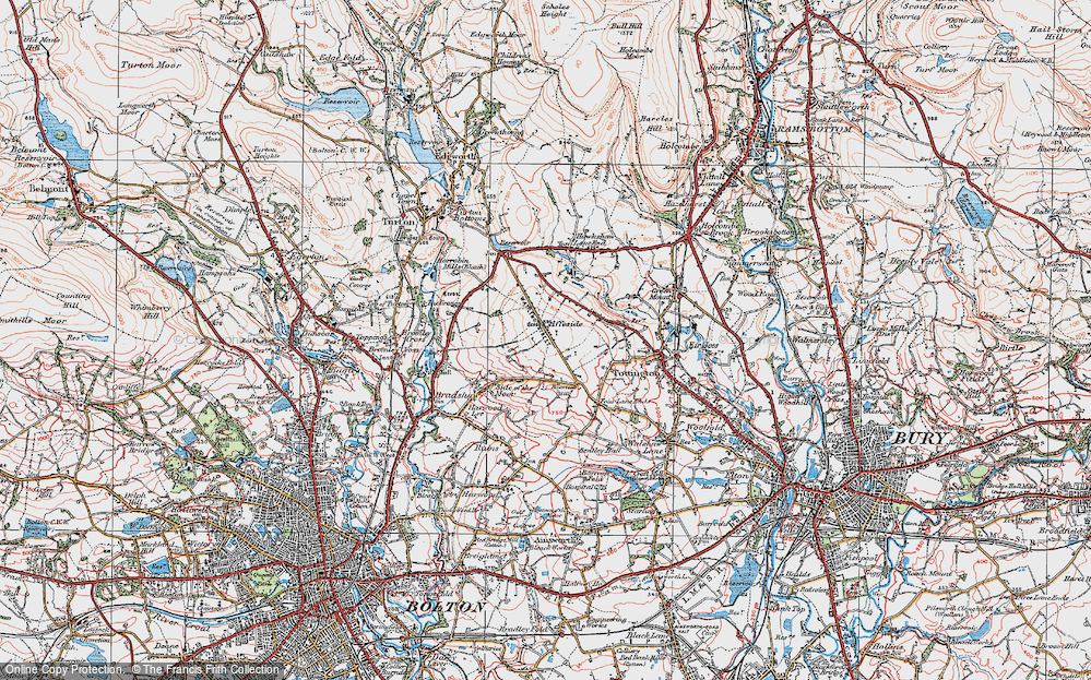 Old Map of Affetside, 1924 in 1924