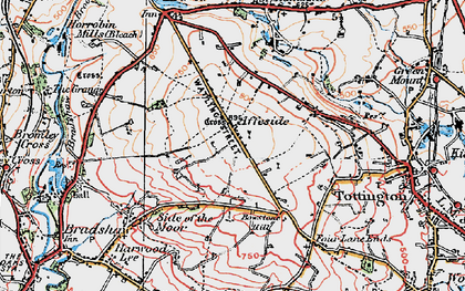 Old map of Affetside in 1924