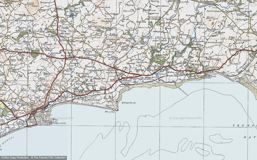 Old Map of Afon Wen, 1922 in 1922
