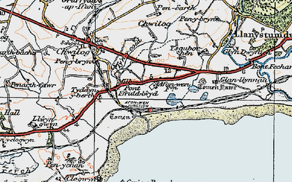 Old map of Tomen Fawr in 1922