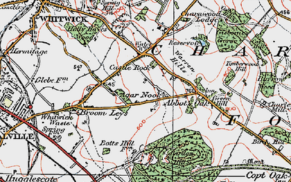 Old map of Abbot's Oak in 1921