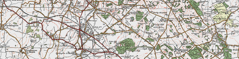 Old map of Agar Nook in 1921