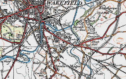Old map of Agbrigg in 1925