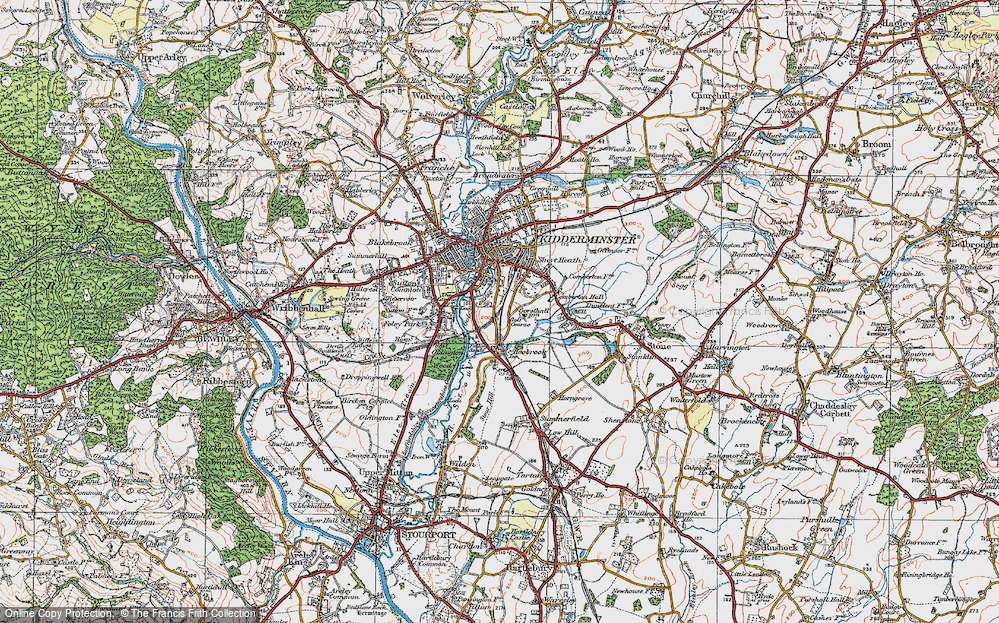 Old Map of Aggborough, 1921 in 1921