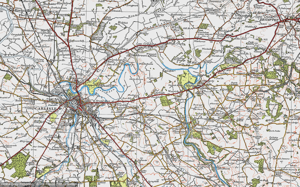 Old Map of Aglionby, 1925 in 1925