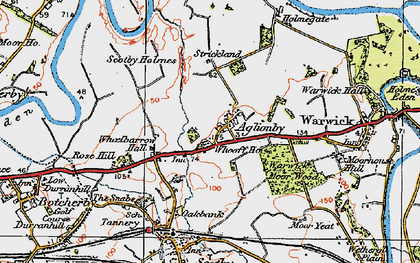 Old map of Whooff Ho in 1925