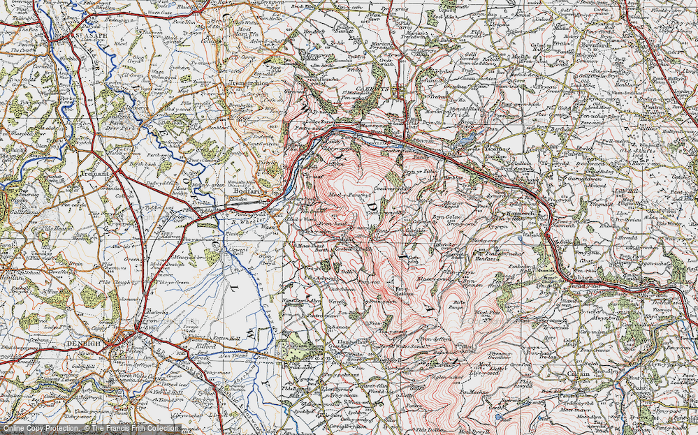 Old Map of Aifft, 1924 in 1924