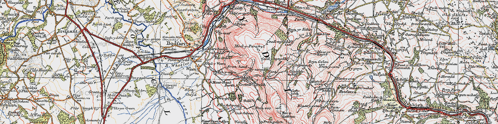 Old map of Aifft in 1924