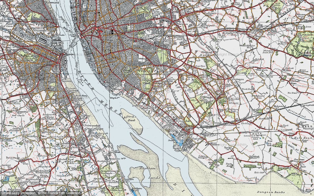 Old Map of Aigburth, 1923 in 1923