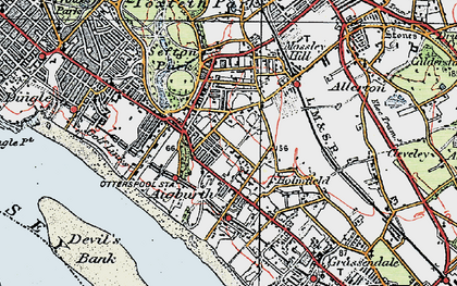 Old map of Aigburth in 1923