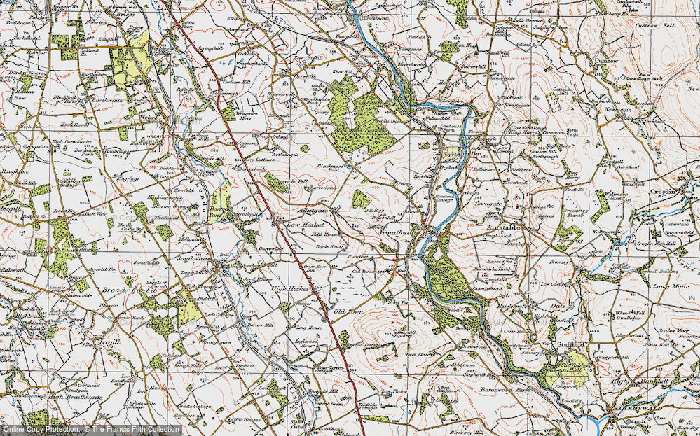 Old Map of Aiketgate, 1925 in 1925
