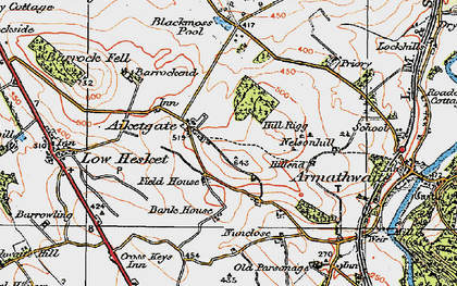 Old map of Aiketgate in 1925