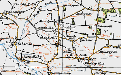 Old map of Aikton Ho in 1925