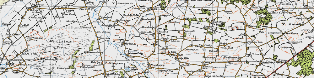 Old map of Aikton in 1925