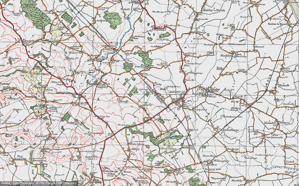 Old Map of Ailby, 1923 in 1923