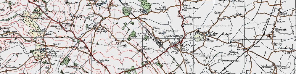 Old map of Ailby in 1923
