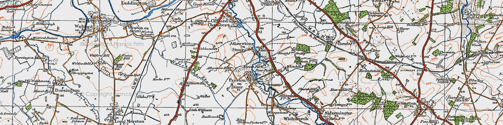 Old map of Ailstone in 1919