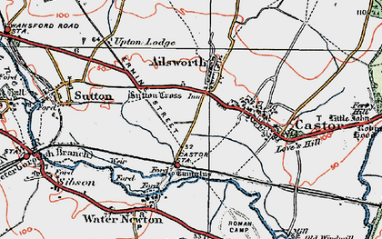 Old map of Ailsworth in 1922
