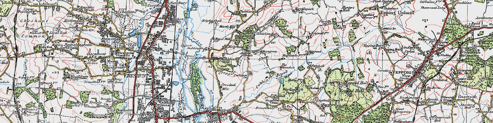 Old map of Aimes Green in 1920