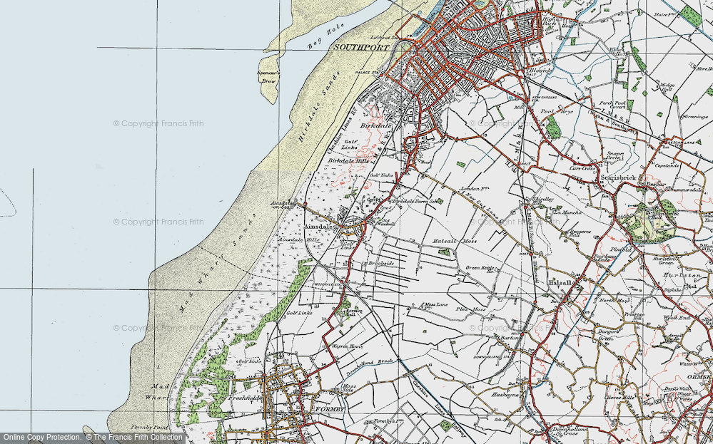 Old Map of Ainsdale, 1923 in 1923