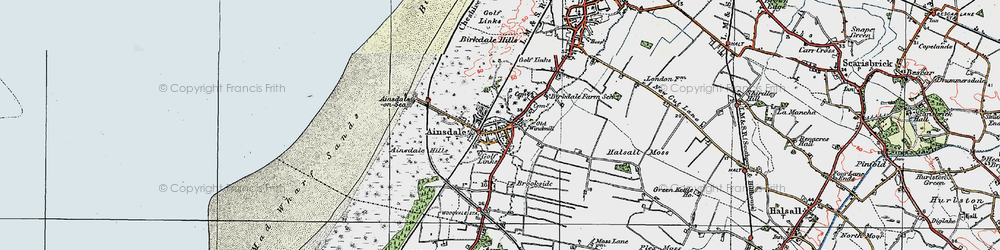 Old map of Ainsdale in 1923