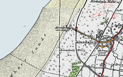 Old map of Ainsdale Hills in 1923