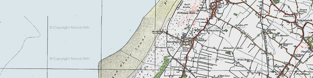 Old map of Ainsdale-on-Sea in 1923