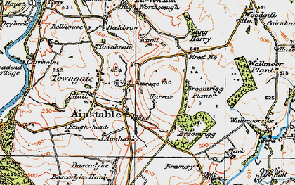 Old map of Ainstable in 1925